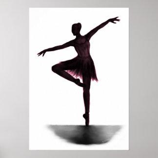 """Grace"" ballerina poster - pink"