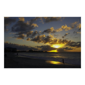 Grace Bay sunset 01 Poster