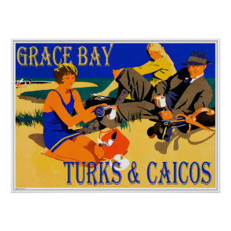 Grace Bay Turks & Caicos1920s Poster