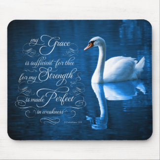 Grace Bible Verse Mute Swan Mousepad