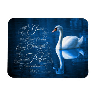 Grace Bible Verse Mute Swan Photo Magnet