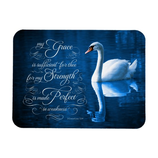 Grace Bible Verse Mute Swan Photo Magnet