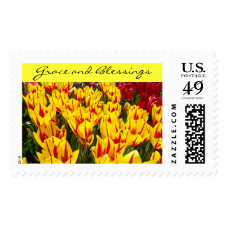 Grace Blessing postage stamps Tulip Flowers