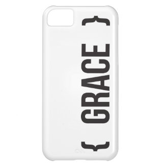 Grace - Bracketed - Black and White Case For iPhone 5C