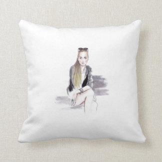 Grace by Lena Ker Throw Pillow