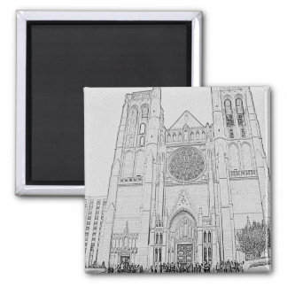 Grace Cathedral 2 Inch Square Magnet