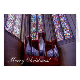Grace Cathedral organ Christmas greeting card