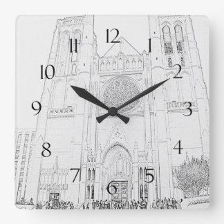 Grace Cathedral Square Wall Clocks