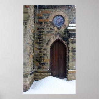Grace Church Side Door in Snow Print