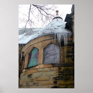 Grace Church Window with Ice Print