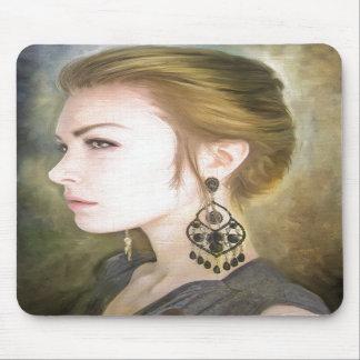 Grace classic oil portrait painting art beauty mouse pads