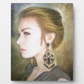 Grace classic oil portrait painting art beauty photo plaques