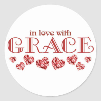 Grace Classic Round Sticker