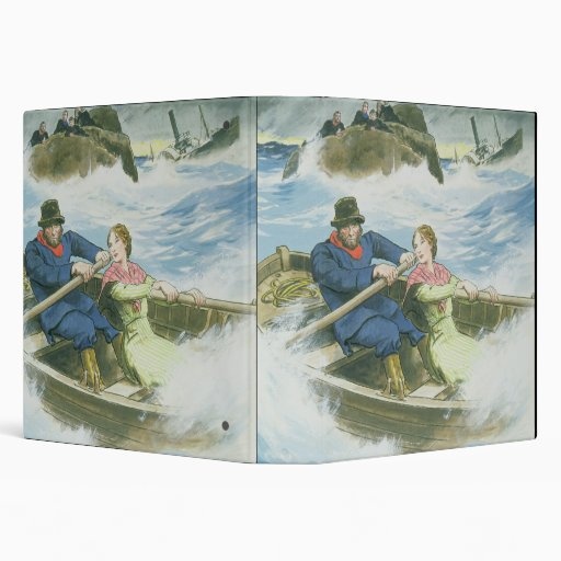 Grace Darling (1815-41) and her father rescuing su Vinyl Binders