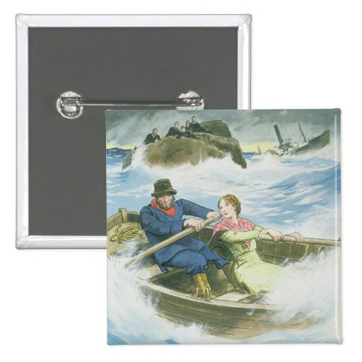 Grace Darling (1815-41) and her father rescuing su Pin