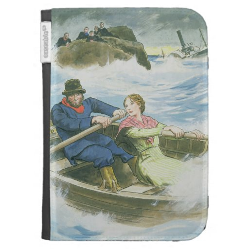 Grace Darling (1815-41) and her father rescuing su Kindle Cover