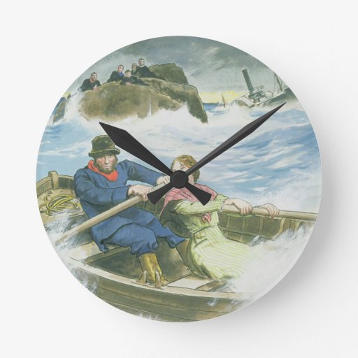 Grace Darling (1815-41) and her father rescuing su Round Clock