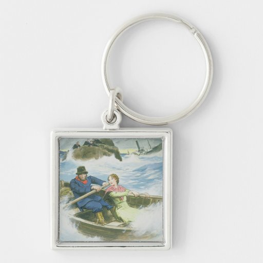 Grace Darling (1815-41) and her father rescuing su Keychains
