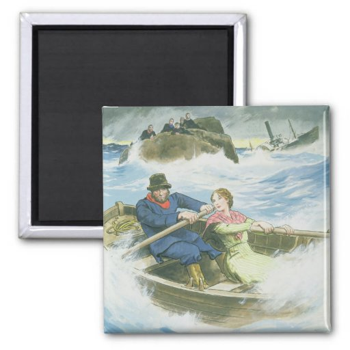 Grace Darling (1815-41) and her father rescuing su Magnets