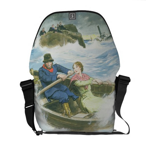 Grace Darling (1815-41) and her father rescuing su Courier Bags