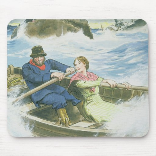 Grace Darling (1815-41) and her father rescuing su Mousepad