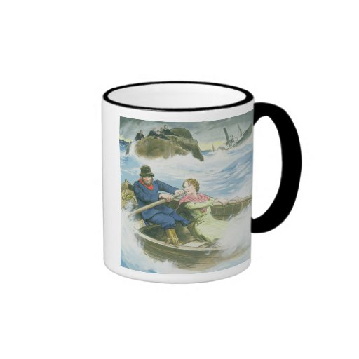 Grace Darling (1815-41) and her father rescuing su Coffee Mug
