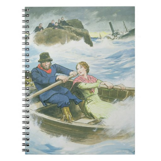 Grace Darling (1815-41) and her father rescuing su Note Books