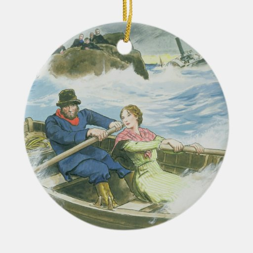Grace Darling (1815-41) and her father rescuing su Ornament