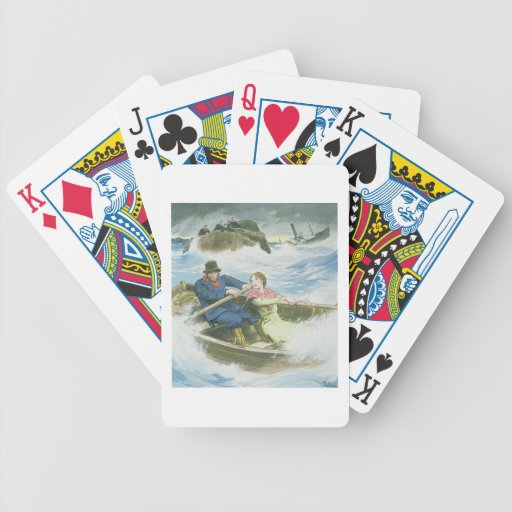 Grace Darling (1815-41) and her father rescuing su Bicycle Poker Deck