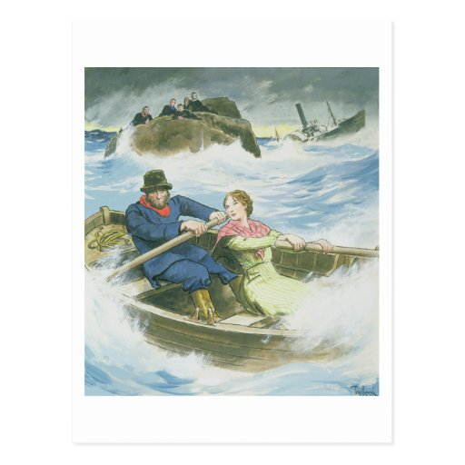 Grace Darling (1815-41) and her father rescuing su Postcards