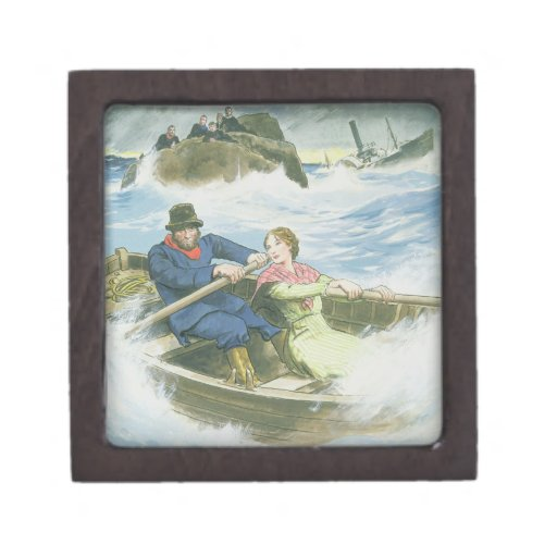 Grace Darling (1815-41) and her father rescuing su Premium Jewelry Box