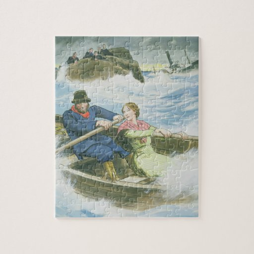 Grace Darling (1815-41) and her father rescuing su Puzzle