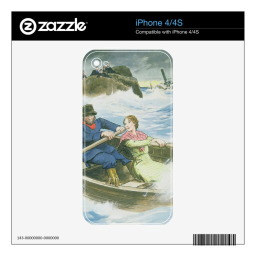 Grace Darling (1815-41) and her father rescuing su Decals For iPhone 4S