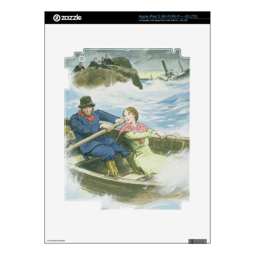 Grace Darling (1815-41) and her father rescuing su iPad 3 Skins