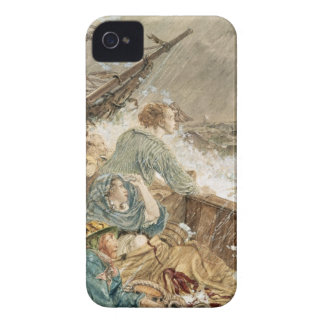 Grace Darling and her father saving the shipwrecke iPhone 4 Cover