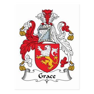 Grace Family Crest Postcard