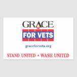 Grace For Vets Rectangular Sticker