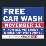 "Grace For Vets Yard Sign<br><div class=""desc"">18x24&quot; Yard Sign Just add your logo to the top right corner.</div>"