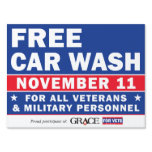 Grace For Vets Yard Sign<br><div class='desc'>18x24&quot; Yard Sign Just add your logo to the top right corner.</div>