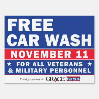 Grace For Vets Yard Sign