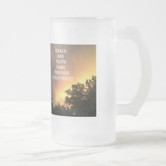 Grace Frosted Glass Beer Mug