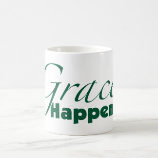 Grace Happens Classic White Coffee Mug