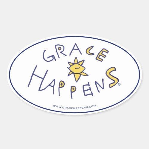 Grace Happens Stickers