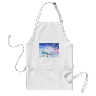 Grace in Space - Swans Swimming Adult Apron