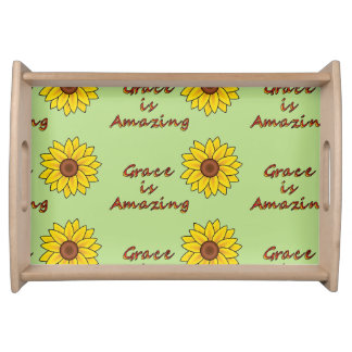 Grace is Amazing - Sunflower Serving Tray