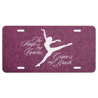 Grace Is My Brush (Dance) License Plate