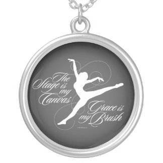Grace Is My Brush (Dance) Silver Plated Necklace