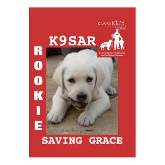 GRACE, KlassKids Search Team K9 Large Business Cards (Pack Of 100)