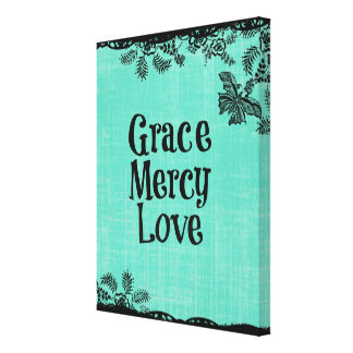 Grace Mercy Love Inspirational Canvas Prints