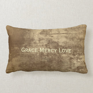 Grace, Mercy, Love Throw Pillow